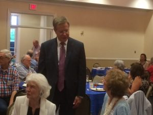 Chancellor Vitter greeting attendees