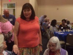Mrs. Vitter greeting attendees